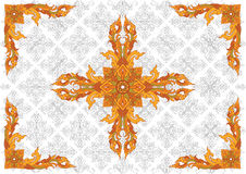 Thai Pattern36. Thai pattern can be apply for tattoo ,pattern or background Royalty Free Stock Images