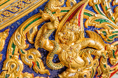 Thai Patterns that Applied on to a Thai Royal Barge Stock Photo