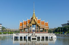 Thai pavilian float in water Royalty Free Stock Images