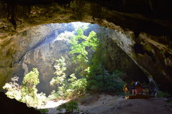 Thai pavilion in the cave Stock Photo