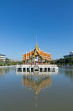 Thai pavilion float in water Royalty Free Stock Photography