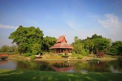 Thai pavilion in garden Stock Photos