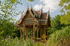 Thai pavilion - munich. The romantic thai pavilion - sala tai - in the westpark of munich. The english styled park was built on the occasion of the international Stock Photo