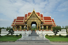 Thai pavilion orange roof Royalty Free Stock Photos