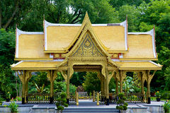 Thai Pavilion (sala). A beautiful thai pavilion or sala in madison wisconsin sent as a gift from thailand Royalty Free Stock Photography