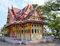 Thai pavilion travel location at Hua Hin train station in Thailand Stock Photos