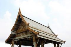 Thai pavilion, Wat Sothornwararamworaviharn, Chachoengsao Thailand Stock Photos