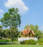 Thai pavillion in the garden Royalty Free Stock Photography