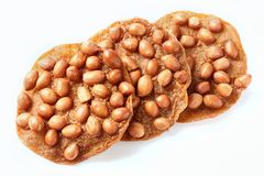Thai peanut cracker Stock Photo