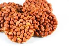 Thai peanut cracker made by peanut or groundnut Royalty Free Stock Photo