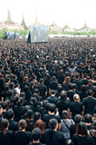 Thai people come for singing the anthem of His Majesty King Bhum Stock Images