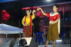 Thai people dancer dancing thai style for show people in traditi Stock Photos