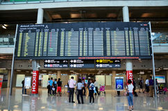 Thai people and foreiner traveller wait and walk at Suvarnabhumi Stock Images