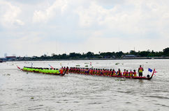 Thai people join with Long boat Racing Royalty Free Stock Photography
