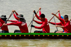 Thai people join with Long boat Racing Stock Photography