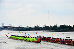 Thai people join match and competition in thailand traditional long boat racing festiva Stock Photo