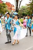 Thai people on the parade in Chiangmai Flower Festival 2013 Stock Photography