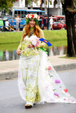 Thai people on the parade in ChiangMai Flower Festival 2013 Stock Photos
