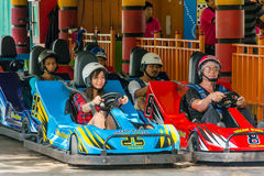 Thai people perpare for a go-kart race Stock Image