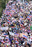 Thai people protest in Bangkok Stock Images