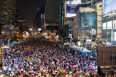 Thai people protest in Bangkok Stock Image