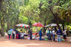Thai people sale and buy product at local street market thai sty Royalty Free Stock Images
