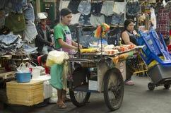 Thai people sale food at Khaosan Road Royalty Free Stock Photo