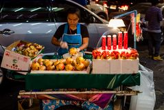 Thai people sell food by the road Stock Photo