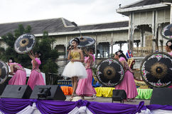 Thai people sing folk song and country music with dance local th Royalty Free Stock Image