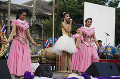 Thai people sing folk song and country music with dance local th Royalty Free Stock Photography