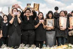 Thai people singing the anthem of King Stock Photo