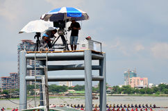 Thai people use Digital Camcorder Video for  broadcast live Long Stock Image