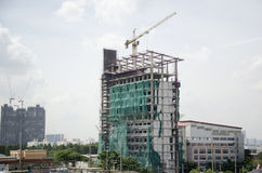 Thai people working on Building Business Construction Site Stock Images
