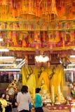 Thai pepole go to the temple to make merit and pray Buddha Stock Photo
