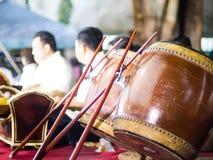 Thai  percussion drums ,Thai music instrument. Stock Image