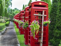 Thai Phone Booths. Royalty Free Stock Images