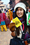 Thai Photography show entrance ticket of Patan Durbar Square Stock Photos