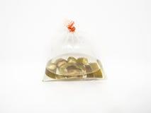 Thai pickled chilli in plastic bag. stock photo