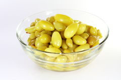 Thai pickled grapes or preserved grapes Stock Photo