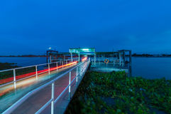 Thai pier by Chaopraya river Royalty Free Stock Photography