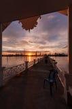 Thai pier by Chaopraya river Stock Image