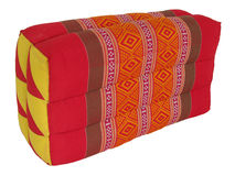 Thai pillow. Thai handmade pillow made frome thai fabric Royalty Free Stock Photography