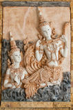 Thai Plaster cast relief Royalty Free Stock Images