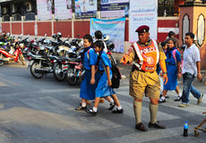 Thai policeman Stock Image