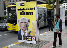 Thai Political Election Poster Royalty Free Stock Photography