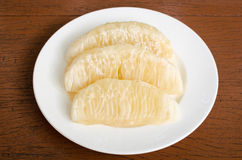 Thai pomelo fruit Peeled Stock Photo