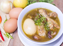 Thai popular food, Kai Pa Lo ,chicken stew with egg Royalty Free Stock Photos