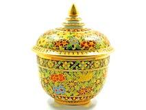 Thai porcelain five colours Stock Images