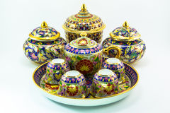 Thai porcelain pottery Royalty Free Stock Images