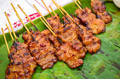 Thai Pork Barbecue Street Food Royalty Free Stock Image